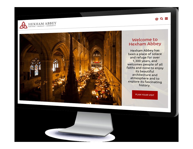 Hexham Abbey website design and website development