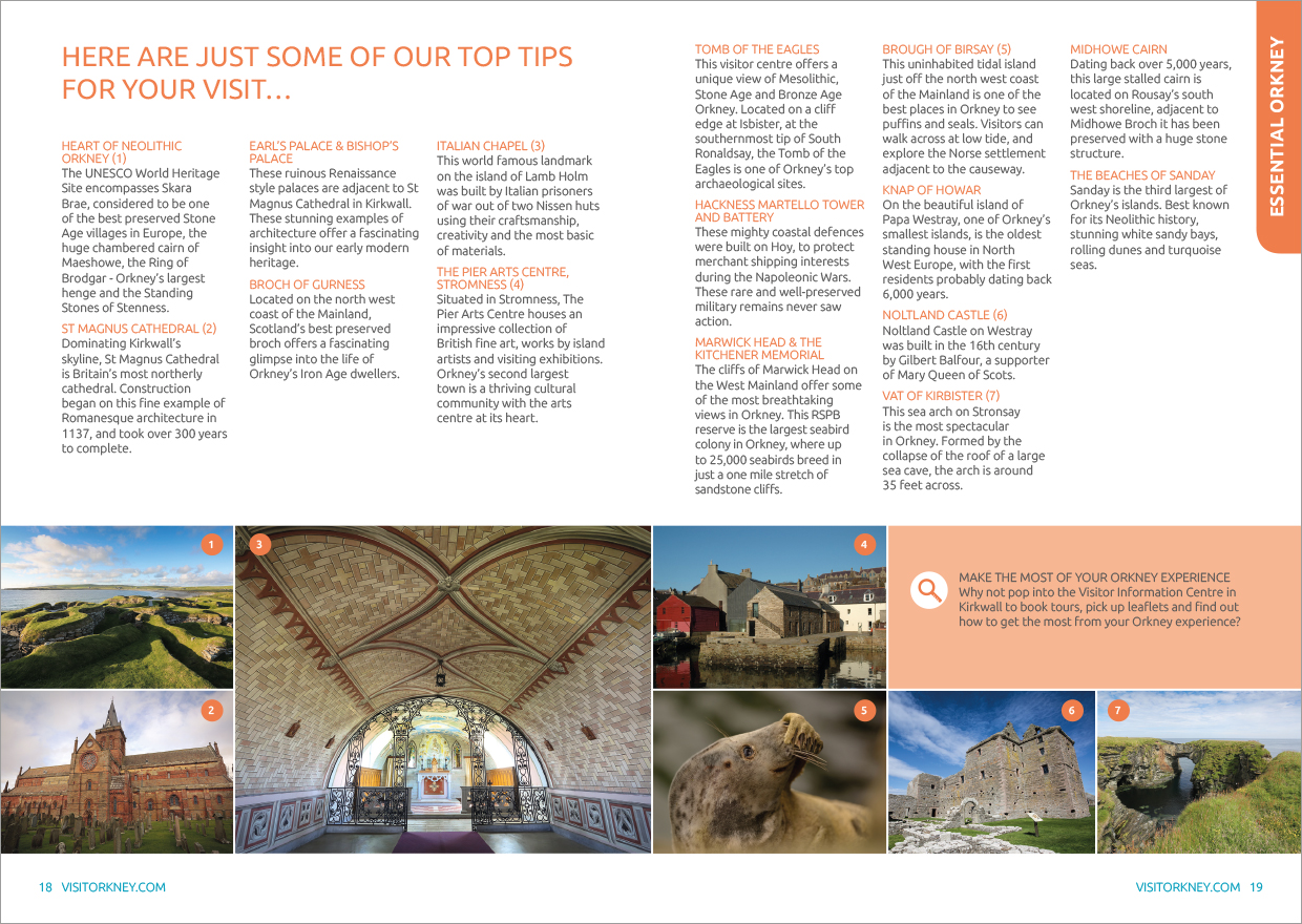 Visitor Brochure Publication Page Design